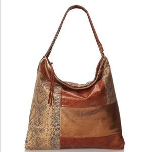 HOBO Ellah Hobo Shoulder Bag Python Patchwork